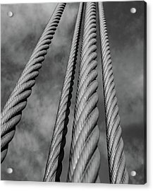 Acrylic Print featuring the photograph Golden Gate Cables by Rand