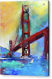 Golden Gate Colors Acrylic Print