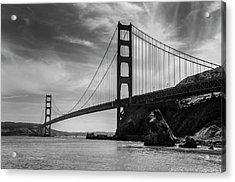 Golden Gate East Bw Acrylic Print