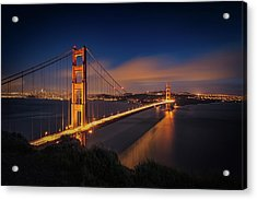 Golden Gate Acrylic Print by Edgars Erglis
