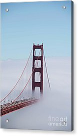 Acrylic Print featuring the photograph Golden Gate Fogged - 3 by David Bearden