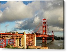 Golden Gate From Above Ft. Point Acrylic Print by Bill Gallagher
