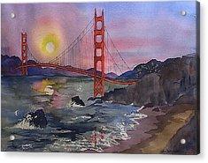 Golden Gate From Baker Beach Acrylic Print