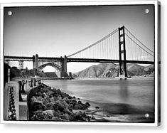 Golden Gate From Fort Point Acrylic Print by Tanya Harrison
