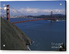 Golden Gate From Marin Headlands Acrylic Print by Stan and Anne Foster