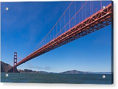 Golden Gate From The Bay Acrylic Print by Scott Campbell