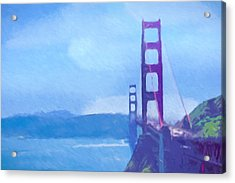 Golden Gate Impressionist Acrylic Print