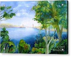 Golden Gate San Francisco Acrylic Print by Maryann Schigur
