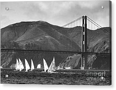 Golden Gate Seascape Acrylic Print by Scott Cameron