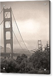 Golden Gate Sepia Acrylic Print by Steve Ohlsen