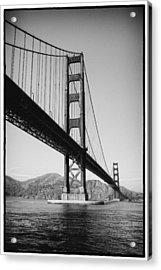 Golden Gate Acrylic Print by Tanya Harrison