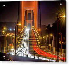 Golden Gate Traffic Acrylic Print