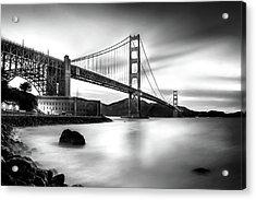 Golden Gateway Bw Acrylic Print