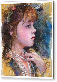 Golden Girl Acrylic Print by Debra Jones