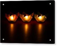 Golden Glow Acrylic Print