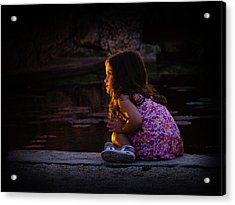 Golden Glow Girl Acrylic Print