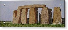 Golden Glow- Stonehenge Acrylic Print