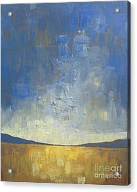 Golden Glow Acrylic Print by Vesna Antic