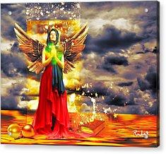 Golden Goddess Of Gratitude Acrylic Print