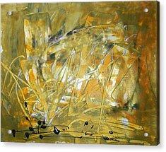 Golden Grass Acrylic Print