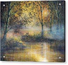 Golden Haze Acrylic Print by Ann Marie Bone