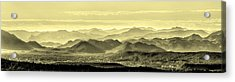 Golden Hills Of The Tonto Acrylic Print by Mike Herdering