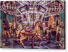 Golden Hobby Horse Acrylic Print