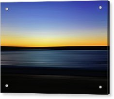 Golden Horizon Acrylic Print