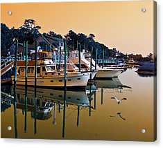 Golden Hour At The Marshwalk Acrylic Print