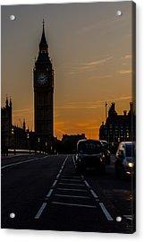 Golden Hour Big Ben In London Acrylic Print