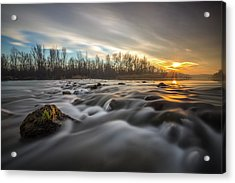 Acrylic Print featuring the photograph Golden Hour by Davorin Mance