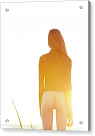 Golden Hour Girl Acrylic Print
