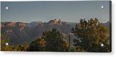 Acrylic Print featuring the photograph Golden Hour On Thimble Peak by Dan McManus