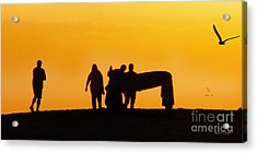 The Golden Hour Acrylic Print by Rhonda Strickland