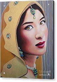 Golden Indian Bride Acrylic Print