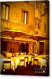 Golden Italian Cafe Acrylic Print by Carol Groenen