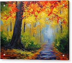 Golden Landscape Acrylic Print