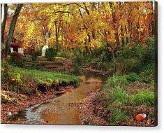 Golden Leaves Of Autumn Acrylic Print