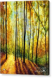Acrylic Print featuring the painting Golden Light by Hailey E Herrera