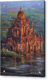 Golden Light Acrylic Print by Jieming Wang