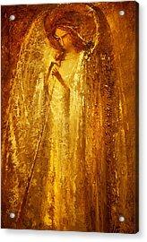 Golden Light Of Angel Acrylic Print by Valentina Kondrashova