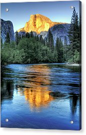 Golden Light On Half Dome Acrylic Print