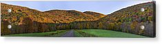 Acrylic Print featuring the photograph Golden Light On The Catskills by Mark Papke