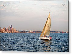 Golden Light Sails Acrylic Print by Tom Dowd