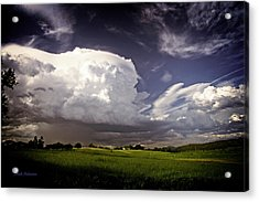 Golden Light Thunderstorm Acrylic Print by Mick Anderson