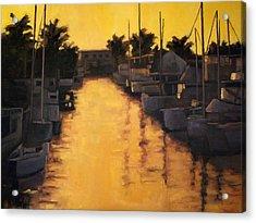 Golden Marina 2 Acrylic Print