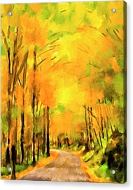 Acrylic Print featuring the painting Golden Miles - Ode To Appalachia by Mark Tisdale