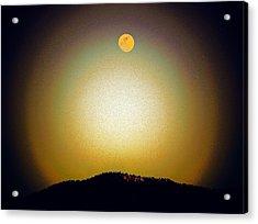 Golden Moon Acrylic Print by Joseph Frank Baraba