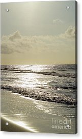 Golden Morning At Folly Acrylic Print