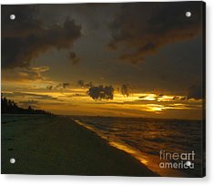 Golden Morning Acrylic Print by Jeff Breiman